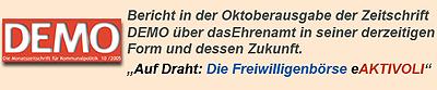 Demo-Bericht Freiwilligenbörse auf Draht Hamburg