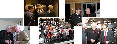 Wolfgang Clement, Bernd P. Holst, Henning Voscherau, Auszubildende der ANA, Klaus Lübke, Dr. Werner Marnette
