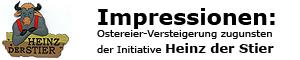 Ostereier-Versteigerung im Billstedt Center Hamburg zugunsten der Initiative Heinz der Stier