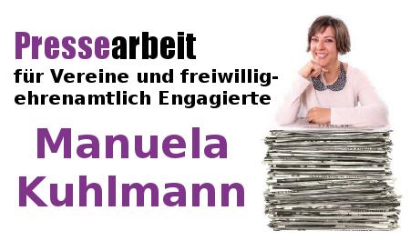 Manuela Kuhlmann - Pressearbeit für Vereine und freiwillig-ehrenamtlich Engagierte